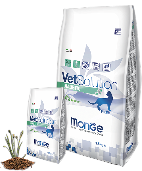 картинка MONGE VETSOLUTION CAT DIABETIC от ЗОО-магазина К-9