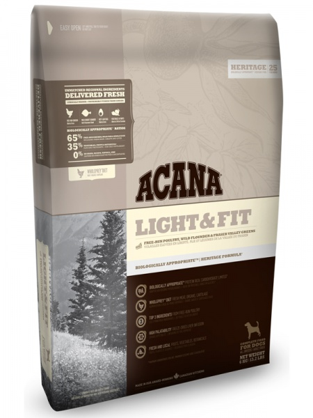 картинка Acana Light & Fit от ЗОО-магазина К-9