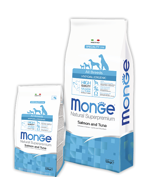 картинка MONGE ALL BREEDS HIPOALLERGENIC  от ЗОО-магазина К-9