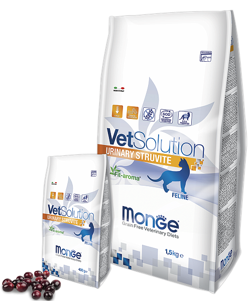 картинка MONGE VETSOLUTION CAT URINARY STRUVITE от ЗОО-магазина К-9