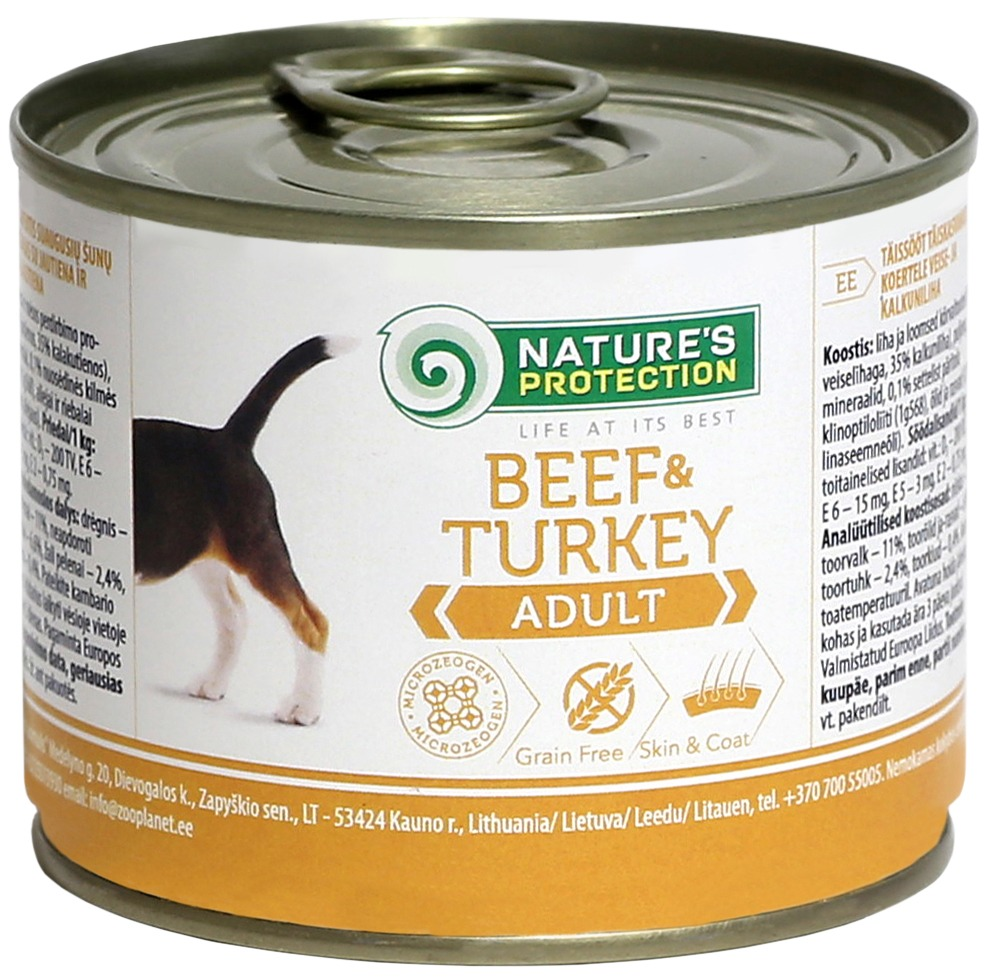 картинка NP Dog Adult Beef&Turkey от ЗОО-магазина К-9